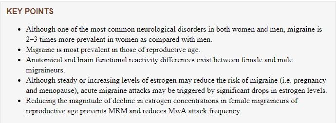Migraines & Estrogen Hormone