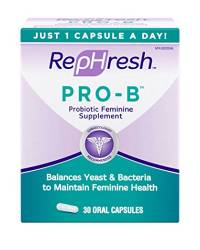 RepHresh Pro-B Probiotic Feminine Supplement. Eliminate Smells